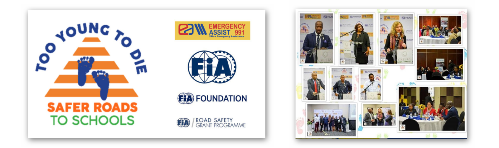 Launch of the EA991 Road Safety Project : Safer roads to schools – too young to die!