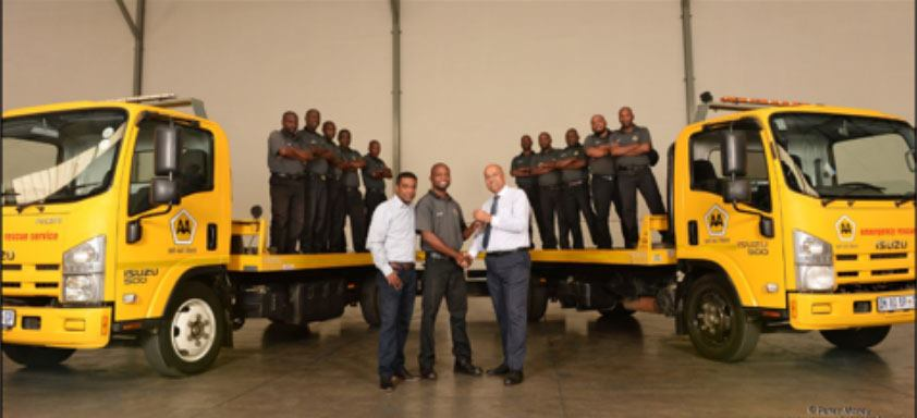 KEYS TO A NEW FUTURE FOR 60 TOW TRUCK DRIVERS IN SOUTH AFRICA