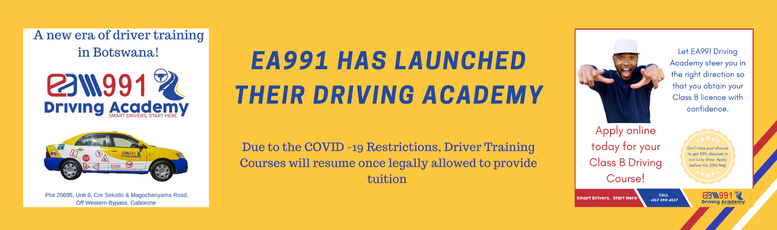 EA991 has launched driver training in Botswana